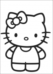 Pobarvanka Hello Kitty