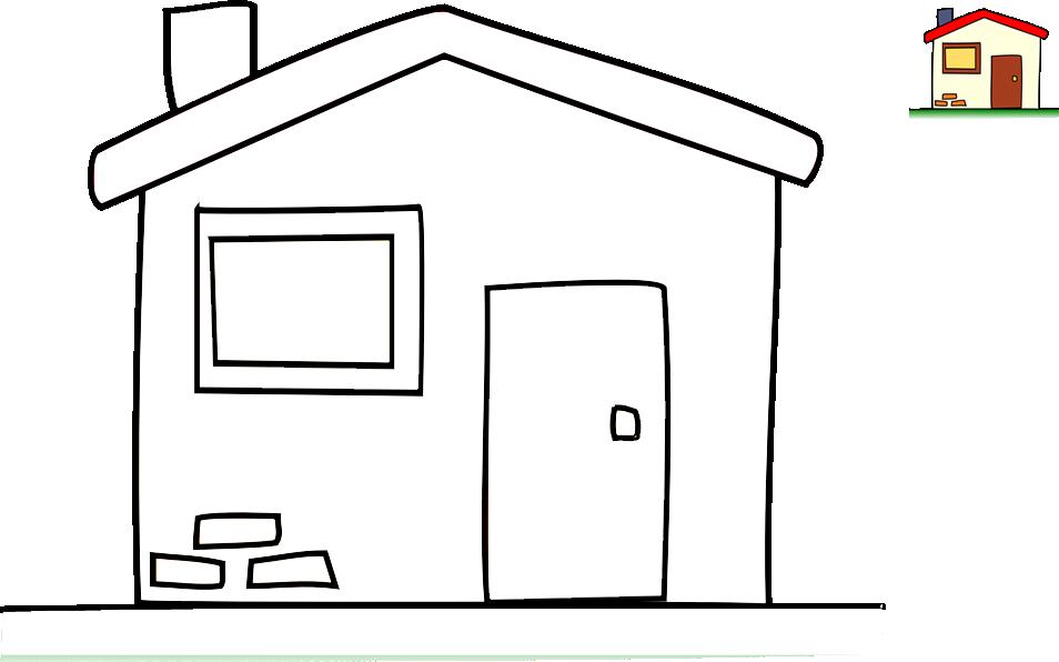 Pobarvanka hiške
