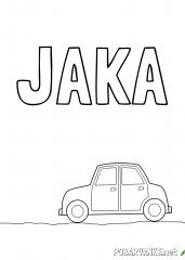 Pobarvanka imena Jaka (2)