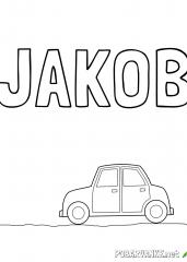 Pobarvanka imena JAKOB (2)