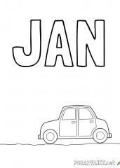 Pobarvanka imena JAN (2)