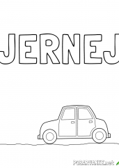 Pobarvanka imena Jernej