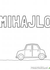 Pobarvanka imena MIHAJLO