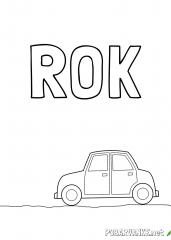 Pobarvanka imena ROK (2)