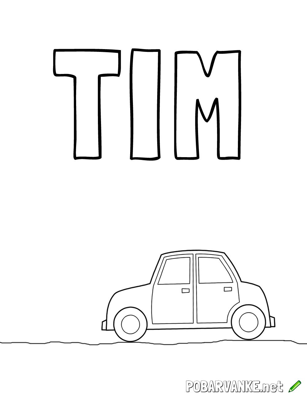 Pobarvanka imena TIM