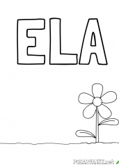 Pobarvanka imena ELA (2)
