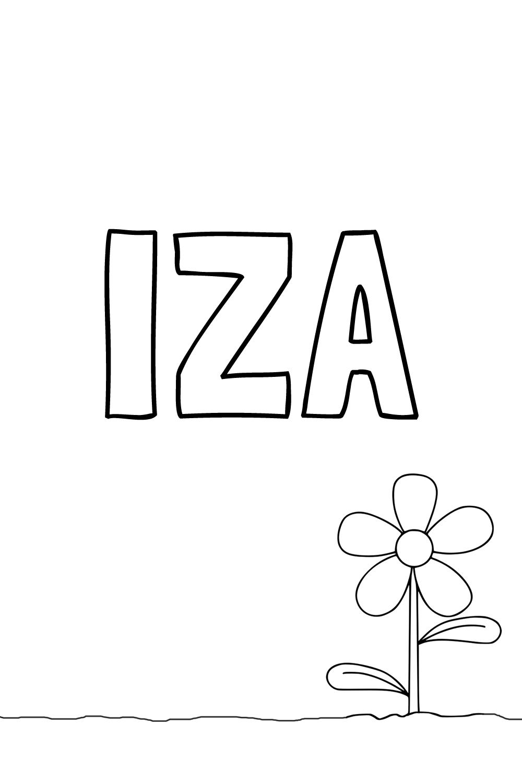Pobarvanka imena IZA