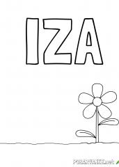 Pobarvanka imena IZA 2