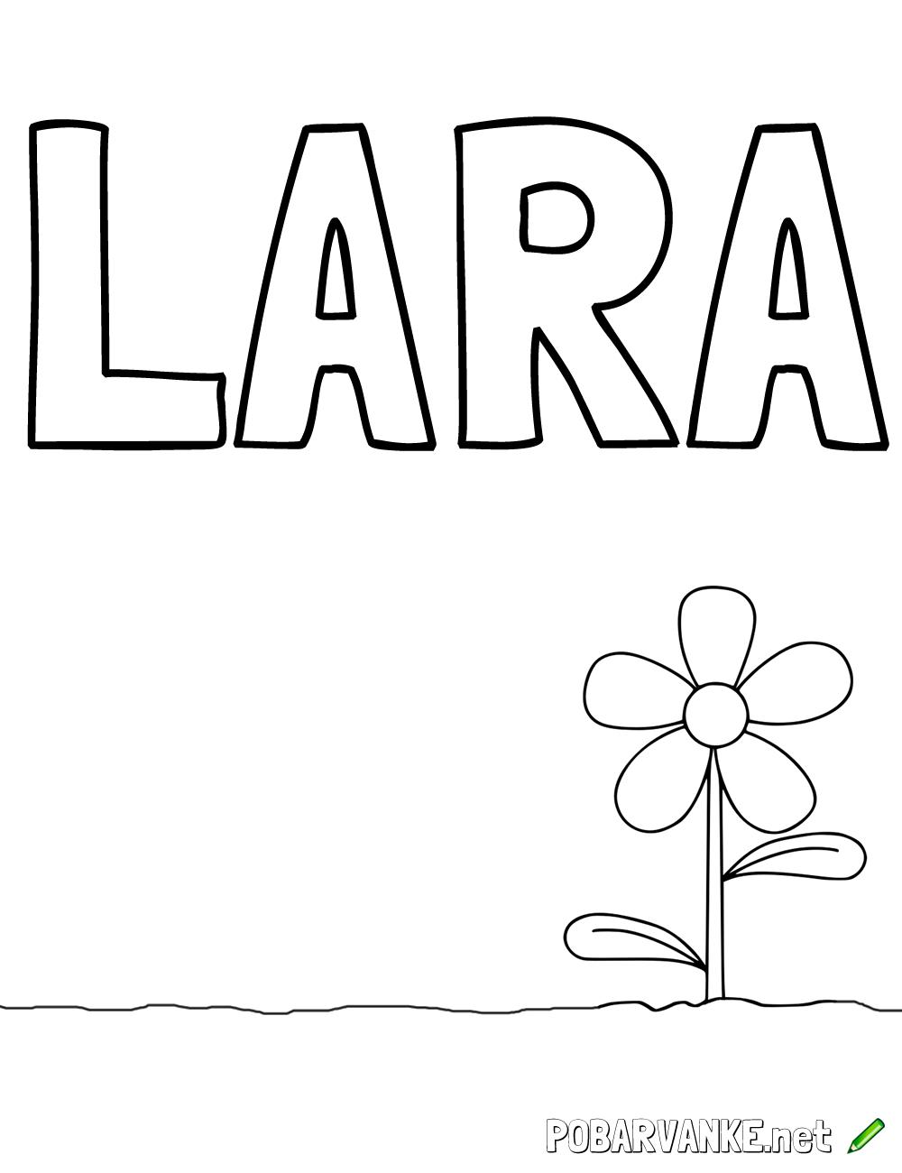Pobarvanka imena LARA (2)