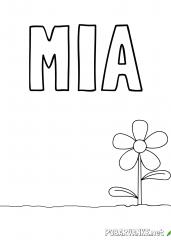 Pobarvanka imena MIA