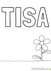 Pobarvanka imena TISA