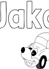 Pobarvanka imena Jaka