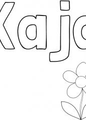 Pobarvanka imena Kaja