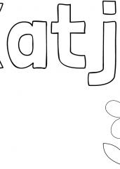 Pobarvanka imena Katja