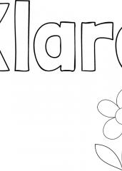 Pobarvanka imena Klara