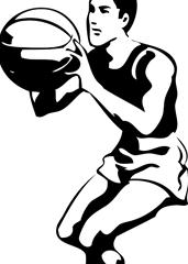 Pobarvanka košarkar