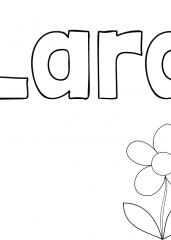 Pobarvanka imena Lara