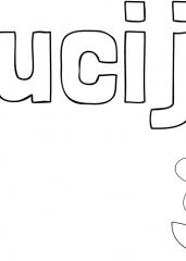 Pobarvanka imena Lucija