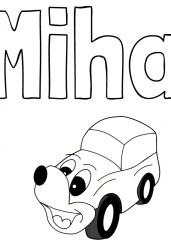 Pobarvanka imena Miha