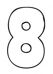 Pobarvanka števila osem