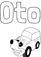 Pobarvanka imena Oto