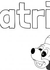 Pobarvanka imena Patrik