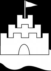 Pobarvanka peščeni grad
