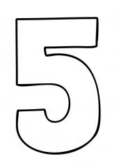 Pobarvanka števila pet