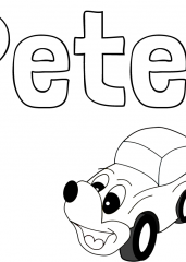 Pobarvanka imena Peter