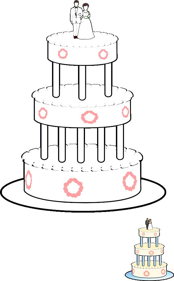 Pobarvanka poročna torta