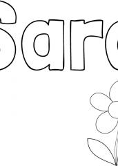 Pobarvanka imena Sara