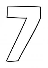 Pobarvanka števila sedem