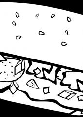Pobarvanka sendvič