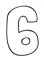 Pobarvanka števila šest