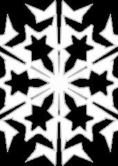 Pobarvanka snežinka
