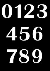 Pobarvanka številke