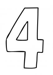 Pobarvanka števila 4