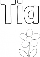 Pobarvanka imena Tia
