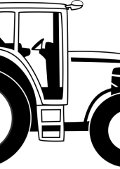 Pobarvanka traktor