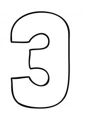 Pobarvanka števila tri