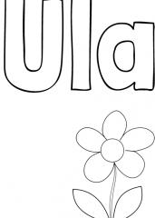 Pobarvanka imena Ula