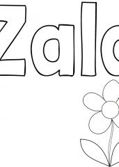 Pobarvanka imena Zala