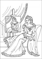 Princeska z avtoportretom