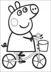 Pujsa Pepa na kolesu