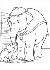 Pobarvanka slonček Dumbo