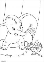 Pobarvanka Dumbo