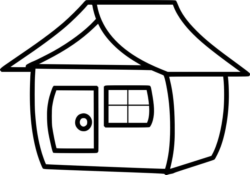 Pobarvanka smešne hiše