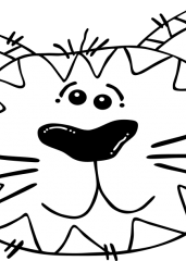 Pobarvanka smešne mačke