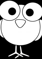 Smešna risana ptička