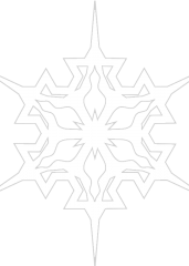 Pobarvanka snežinka 5